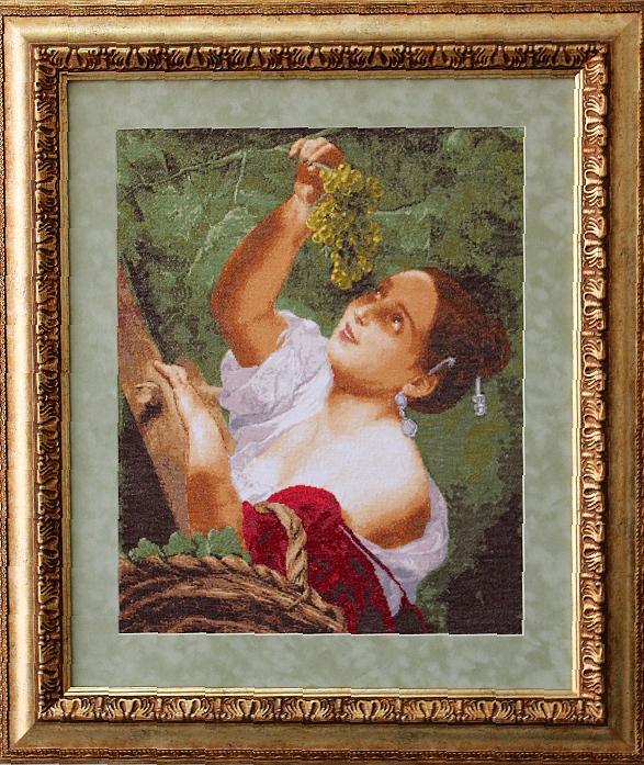 Вышивка с репродукции картины 963